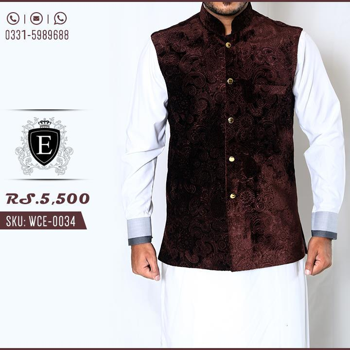 Waistcoat Kurta Shalwar Men Collection Edge 2016