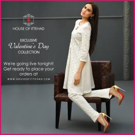 House Of Ittehad Valentines Day Pret Collection 2016