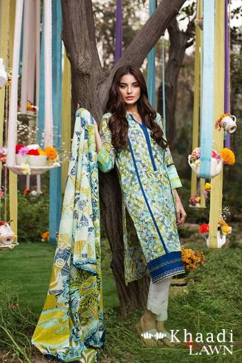 Khaadi Lawn Geometric Fusion Summer Collection 2016 6
