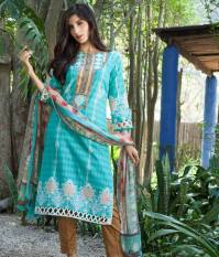 Mahnoor Embroidered Spring Summer Lawn Al Zohaib 2016 11
