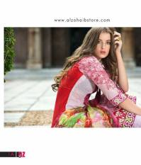Mahnoor Embroidered Spring Summer Lawn Al Zohaib 2016 17