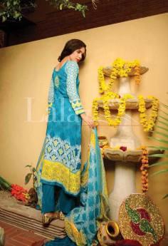 Classic Crinkle Lawn Casual Shalwar kameez Dresses 2016 5