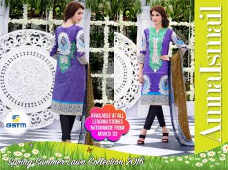 Embroidered Summer Lawn Dresses By Amna Ismail 2016 9
