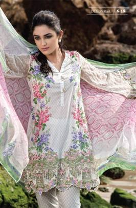Maria B Summer Lawn Dresses Vol-1 2016 Collection 19
