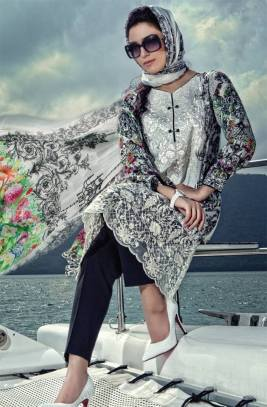 Maria B Summer Lawn Dresses Vol-1 2016 Collection 7