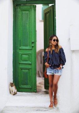 Off The Shoulder Summer Tops Women Casual Wear 13