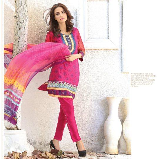 Chiffon Casual Shalwar Kameez Collection By Firdous Fashion 2016