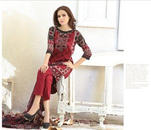 Chiffon Casual Shalwar Kameez Collection By Firdous Fashion 2016 4