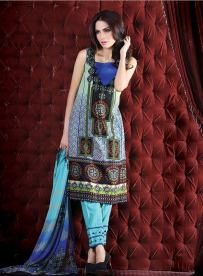 Chiffon Casual Shalwar Kameez Collection By Firdous Fashion 2016 9