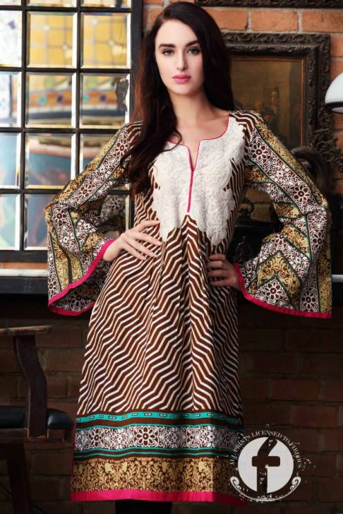 Embroidered Kurti Summer Collection By Firdous Fashion 2016 14