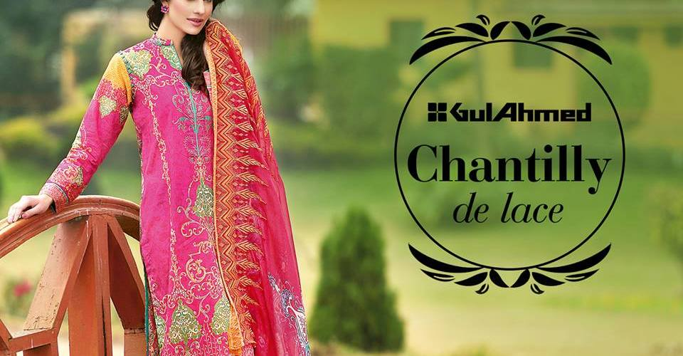 24f2316d3e Gul Ahmed Chantilly De Lace Summer Vol 2 2016