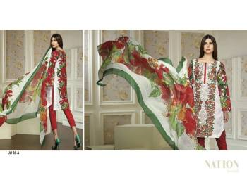 Swiss Lawn Party Wear Dresses Nation By Riaz Arts 2016 15