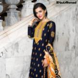 Three Piece Embroidered Lawn Gul Ahmed Collection 2016 9