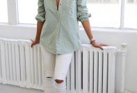 White Ripped Jeans For Summer Casual Wearing