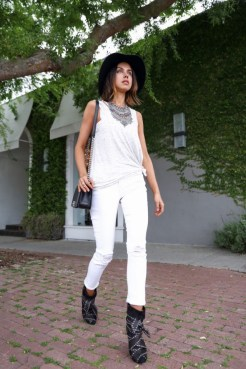 White Ripped Jeans For Summer Casual Wearing 6