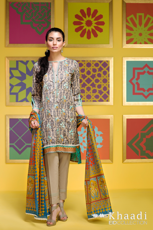 Flower Garden Khaadi Eid Collection Summer 2016 12
