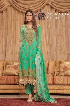 Palwasha Fabrics Eid Dresses Evening Wear 2016 12