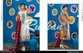 Rujhan Eid Lawn Collection Embroidered Dresses 2016 13