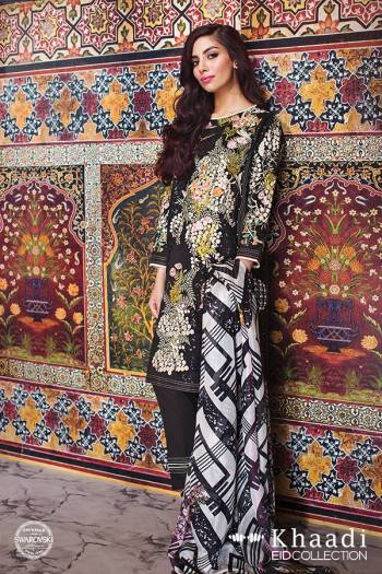 Tropical Paradise Khaadi Eid Lawn Dresses 2016 13