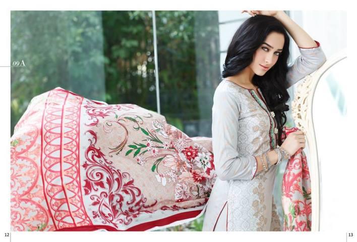 Al Zohaib Mahnoor Eid Lawn Fancy Dresses 2016 8