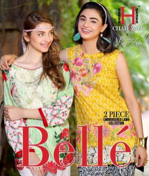 Belle 2 Piece Embroidered Eid Lawn By Charizma 2016