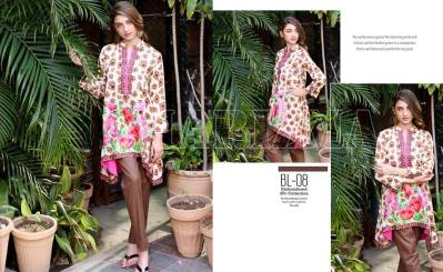 Belle 2 Piece Embroidered Eid Lawn By Charizma 2016 11