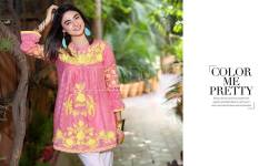 Belle 2 Piece Embroidered Eid Lawn By Charizma 2016 9
