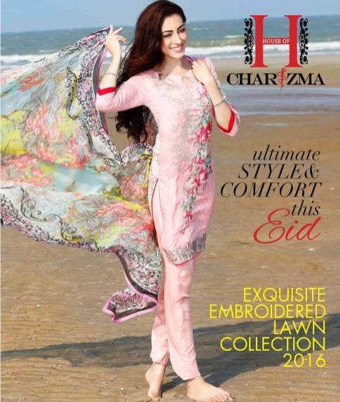 Embroidered Fancy Eid Lawn By Charizma 2016