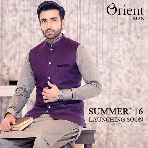 Men Eid Waistcoat Kurta Shalwar By Orient Textiles 2016