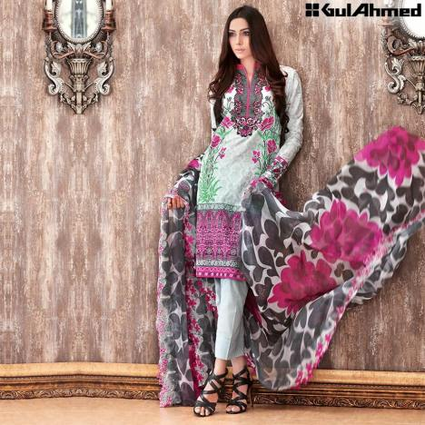 Chantilly De Lace Mid Summer Gul Ahmed Dresses 2016