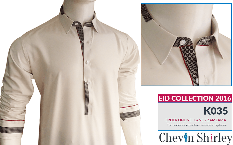 Chevin Shirley Eid Men Kurta Shalwar Dresses 2016