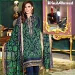 Embroidered Chiffon Pret Eid Dresses Gul Ahmed 2016 2