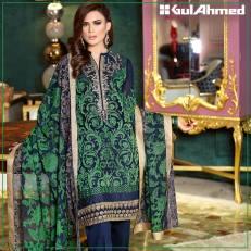 Embroidered Chiffon Pret Eid Dresses Gul Ahmed 2016 2