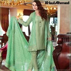 Embroidered Chiffon Pret Eid Dresses Gul Ahmed 2016 4