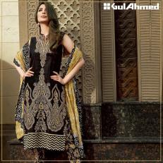 Embroidered Chiffon Pret Eid Dresses Gul Ahmed 2016 6
