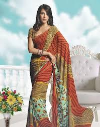 Semi Georgette Indian Saree Designs For Autumn Season 5