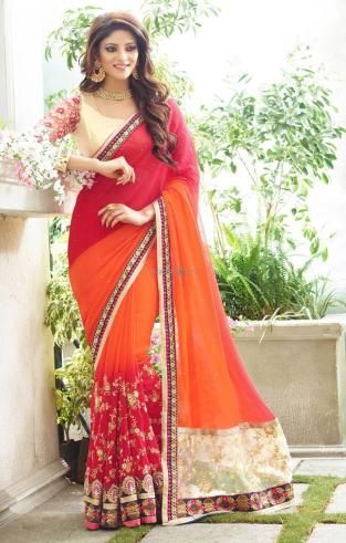 Semi Georgette Indian Saree