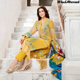 Trencia Satin Silk Eid Collection Gul Ahmed 2016 10