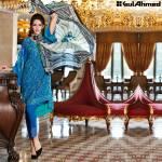 Trencia Satin Silk Eid Collection Gul Ahmed 2016 12