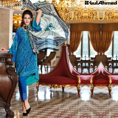 Trencia Satin Silk Eid Collection Gul Ahmed 2016 12