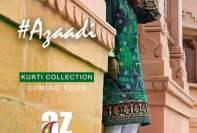 Al Zohaib Azaadi Kurti Collection