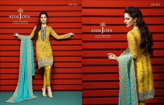 Asim Jofa Luxury Embroidered Chiffon Dresses 2016-17 10