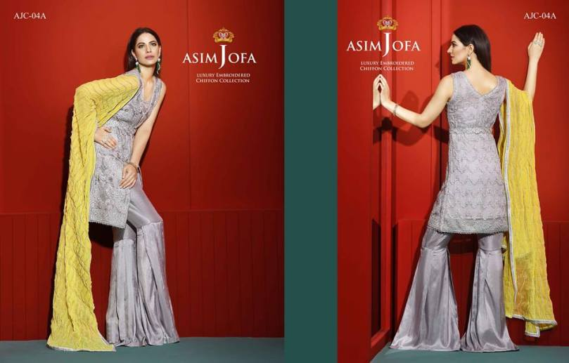 Asim Jofa Luxury Embroidered Chiffon Dresses 2016-17 16