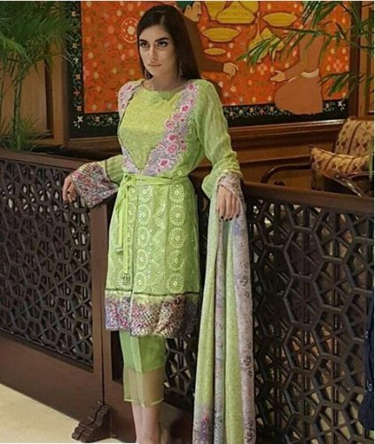 Noor Premium Embroidered Chiffon Dresses 2016-17 8