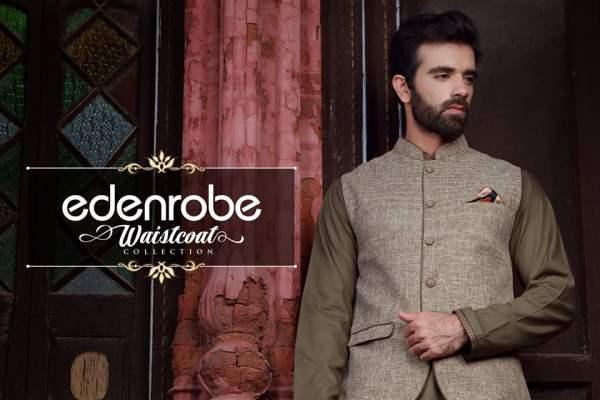 Edenrobe Festive Waistcoats Eid Ul Azha Collection 2016-17