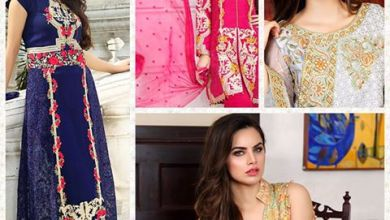 Embroidered Crinkle Chiffon Eid Ul Azha Collection Motifz 2016-17 6