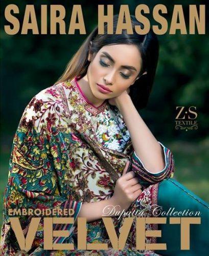 Saira Hassan Velvet Embroidered Winter Dresses 2016-17