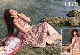 Classic Lawn Shalwar Kameez By Five Star Textiles 2017 4