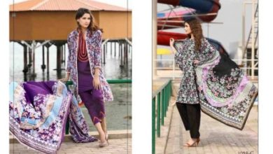 Classic Lawn Shalwar Kameez By Five Star Textiles 2017