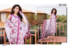 Classic Lawn Shalwar Kameez By Five Star Textiles 2017 9